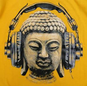 Buddha with Headphone