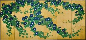Asagao-zu_Byōbu_by_Kiitsu_Suzuki