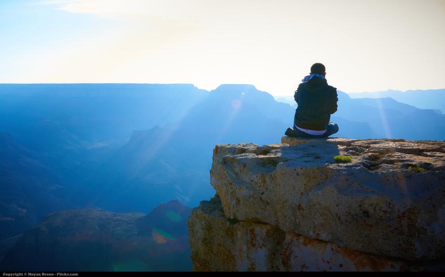 zen moment on the mountain
